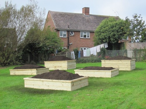 Community Raised Beds on the Pan Estate